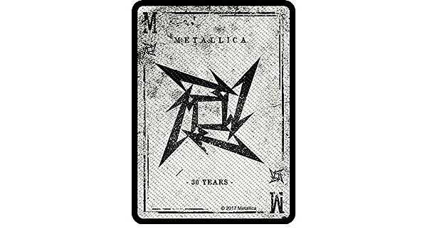 G/én/érique Metallica Patch One Band Logo Officiel Nouveau Noir Cotton Sew On 10Cm X 10Cm Size 10 cm x 10 cm