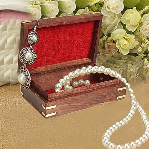 Cadeaux spéciaux sur la fête des mères Boîte en bois de bijoux, éléphant double avec la boîte de stockage de découpage, boîte vintage, boîte de 8X5