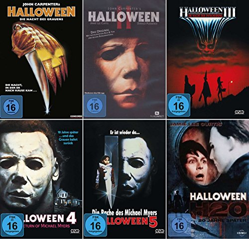 HALLOWEEN Edition Teil 1 2 3 4 5 H20 Michael Myers Collection 6 DVD Neu (Halloween 6 Film Complet)