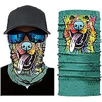 Leezo Gesichtsmaske Frauen Männer 3D Tier Tiger Gedruckt Sonnenschirm Schweißband Hairband Kopftuch Kamera Schutzhülle Outdoor Sportswear Zubehör Multifunctional Headwear