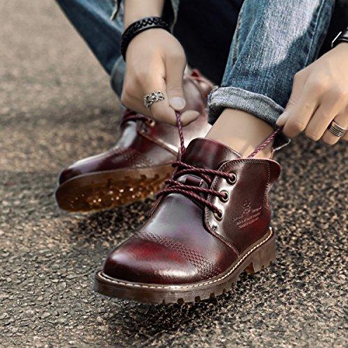 Scarpe Da Calcio Scarpe Casual Scarpe Da Uomo Nuovo In Pizzo Scarpe Da Lavoro Calzature Da Lavoro In Pelle RedShoes