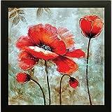 SAF flower Painting (Wood, 30 cm x 3 cm x 30 cm)