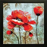 #2: SAF flower Painting,Frame size (12 inch x 12 inch, (Wood, 30 cm x 3 cm x 30 cm, Special Effect Textured)