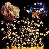 Solar Lichterkette LED Außen Warmweiß 22m 200LED 8 Modi Außenlichterkette Wasserdicht mit Lichtsensor Weihnachtsbeleuchtung Beleuchtung für Weihnachten [Energieklasse A++] (200 LED warmweiß)