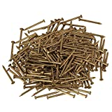 RDEXP 18 x Kopf 1.3 mm, Messing, Kupfer, rund, Holz, Schraube mit Deko-Miniatur-Set 500