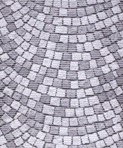 Badvorleger, Aquamat Antirutsch Matte, Bodenbelag, Bad Garten Küche, 100x65 cm, Länge wählbar, Pflastersteine
