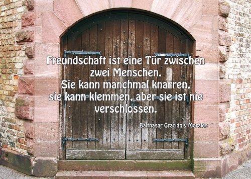 Eine tür  2 Postkarten Tür Tor - Spruch: Freundschaft ist eine Tür zwischen ...