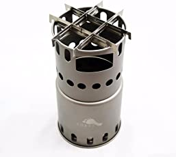 TOAKS Titanium Backpacking Wood Burning Stove (Stove with Bars)