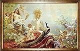 Handgemaltes Ölgemälde im europäischen Stil der Palast der Damen Gemälde 50,8x 71,1cm.