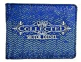 Cartera juvenil de hombre serigrafiada motor DIESEL disponible en color azul (11,5x9) (Azul)