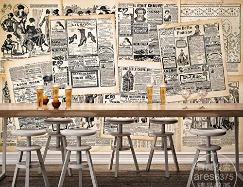 Carta da parati 3d murales da parete alfabeto inglese anni 80 vintage vecchio poster di giornale pittura murale fotomurali 3d moderni decorazione murale decorazioni casa interno muro