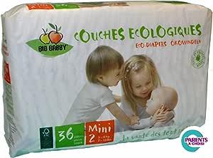 Bio Babby 80700 Couche à Bébé 3-6 kg Mini