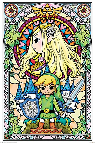 Poster The Legend Of Zelda, Stained Glass + accessori