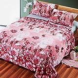 Kuscheldecken HMLIFE Rosa warme Decke Polyester Blumenmuster Winter Schlafzimmer Bettdecke Vier Jahreszeiten Freizeit Decke weich und komfortabel (größe : 200 * 230cm)