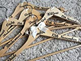 Wedding Hanger, Personalised Bridal Party Hanger set of 4 -10 (Set of 4)