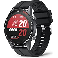 """YoYoFit Smart Watch with Blood Pressure Monitor, Activity Trackers with Heart Rate/Sleep/Blood Oxygen Monitor 1.4"""" Full…"""