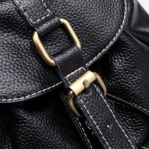 Moda Tendenze Signore Viaggio Zaino Borsa A Tracolla Il Nero Black