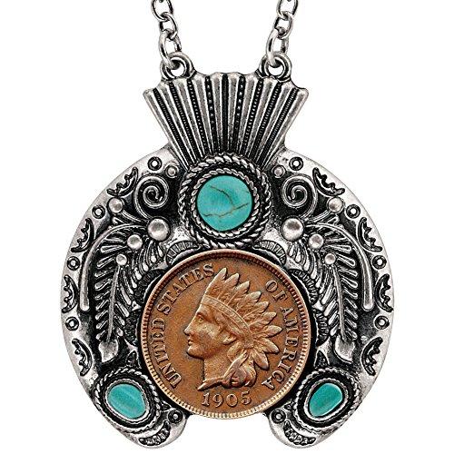 American Medaille Treasures indischen Penny Kunstvoller Kopfschmuck Halskette (Penny-münzen Zu Sammeln)