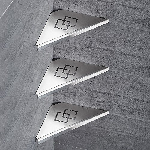 Badezimmer Regale 304 Edelstahl Rack Ecke Dusche Pinsel Nickel 3-Storey Dusche Dreieck Lagerung Wand Montiert Für Shampoo dusche Gel WF-18062-3 -