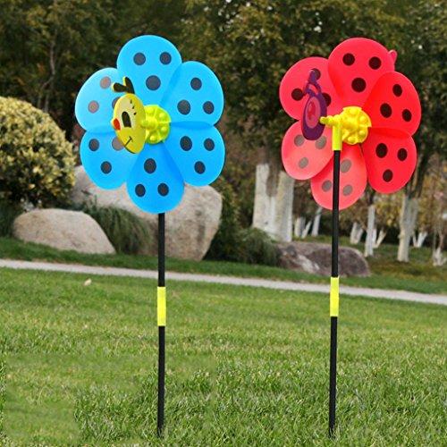 Lergo 13D Insekten Windmühle Windsack Wind Spinner Kinder Spielzeug Yard Garden Decor Outdoor (zufällige Lieferung)