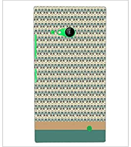 PrintDhaba Owl pattern D-1861 Back Case Cover for NOKIA LUMIA 730 (Multi-Coloured)