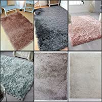Modern Thick Silky Polyester Yarn Shaggy Rug in Various Sizes and Colours Carpet by Lord of Rugs