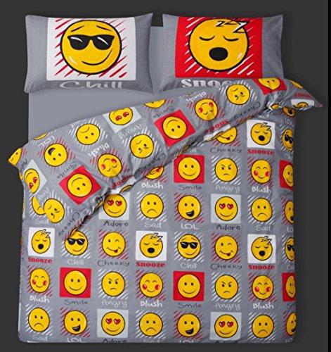 Slimey Emoji Emossion-Parure de lit - 1 personne