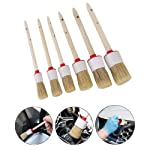Car Cleaner Brush Set, OOOUSE 6 PCS Auto Detailing Brush Natural Boar Hair Detail Brushes Perfect for Car Motorcycle...