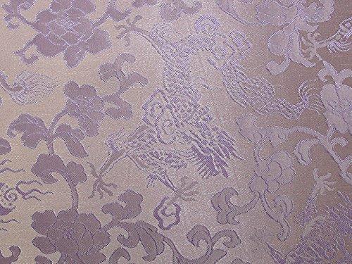 Oriental Weave Brokat Kleid Stoff lila-Meterware