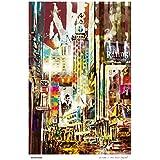 La Ciudad 44x60 cm. Pintura realizada con pincel digital sobre paleta Wacom.