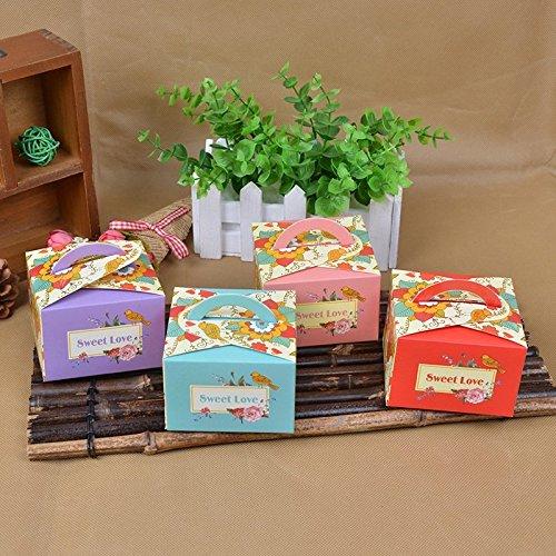 bureze 50Blumen Vögel Candy Boxen Hochzeit Candy Boxen