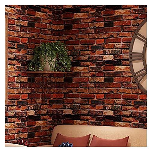 Jlcorp impermeabile autoadesivo sfondo rosso ruggine marrone brick modello peel-stick sfondo adesivi da parete adesivi porta counter top adesivi