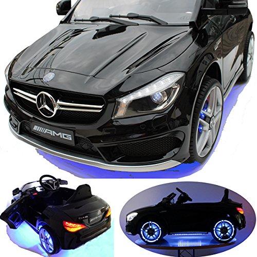 2x MOTEURS* Original Mercedes-Benz CLA-45 AMG Licence - Voiture / Véhicule électrique pour Enfant avec TÉLÉCOMMANDE Porteur Vélo -noir-