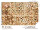 GRAZDesign 766067_15x10_70 Fliesenaufkleber Mosaik - Muster Braun | mit Fliesenbildern die Fliesen-Wände überkleben (Fliesenmaß: 15x10cm (BxH)//Bild: 105x70cm (BxH))