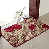 Aik@ Anti-rutsch Absorbierenden Badezimmer Fußmatte,Teppich Kithcen Fusselfrei Rechteck Polyester Eintrag matte-G 50x80cm(20x31inch)