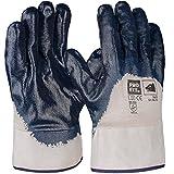 PRO FIT 12 Paar - Basic Nitril-Handschuh, blau, 3/4 beschichtet, Stulpe 10