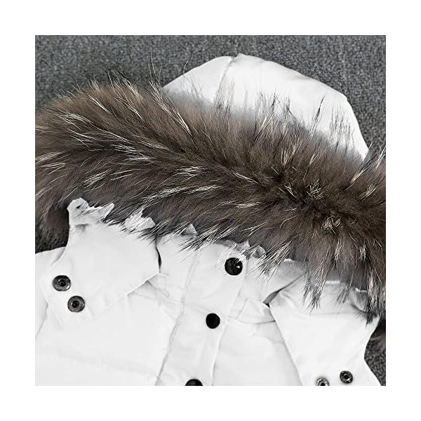 Mitlfuny Invierno Plumífero Acolchado Chaqueta Niñas Niños Bebé Algodón Abrigo con Capucha Cálido Manga Larga Color… 2