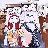XCZKL 3D-Bettwäsche-Set Ängstliche Stoffbettwäsche Mit Polyester-Fibre Bedruckt Muster Elegante Bettbezug 1 Und Kissenbezüge 2 (3 Stück),Lovers-King264cmx228cm