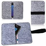 Filz Hülle Smartphone Tasche Cover Case Handy Flip