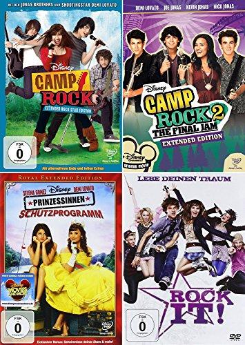 Camp Rock 1 + 2 + Prinzessinnen Schutzprogramm + Rock It! (Teenager 4er Set)