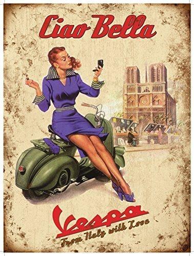 Original Kühlschrank Magnet - Vespa Ciao Bella - Geschenk Fridge magnet Küche Dekoration 20010 Bella Küche