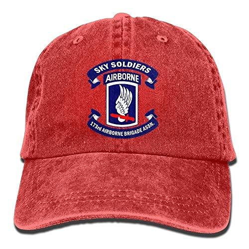 JIEKEIO Funny Baseball Caps Hats Army 173rd Airborne Brigade Logo Unisex Adult Adjustable Gym Dad Hats