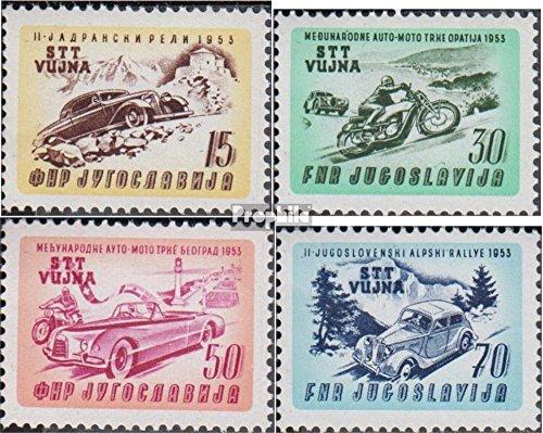 Prophila Collection Triest - Zone B 98-101 (kompl.Ausg.) 1953 Auto-/Motorradrennen (Briefmarken für Sammler) Straßenverkehr