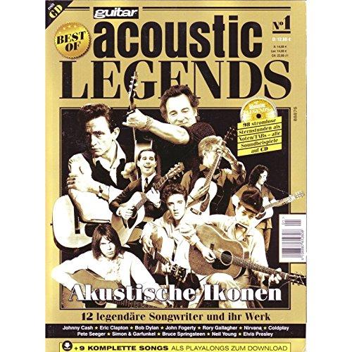 Best of guitar acoustic Legends I mit CD - 12 legendäre Akustikgitarre Legenden / Songwriter und Ihre Werke mit Noten TABs Soundfiles