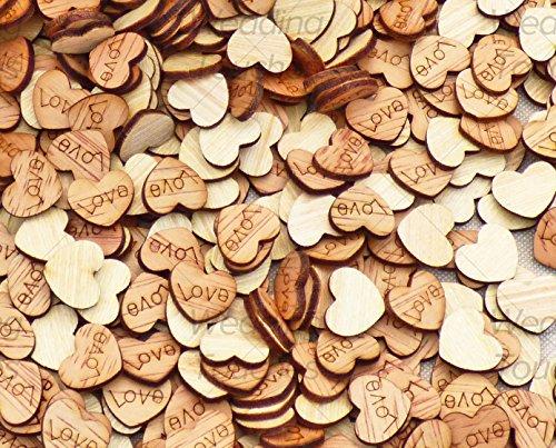 Streudeko LOVE | Herzen aus Holz