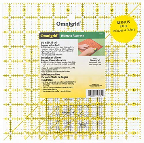 4/Pkg Omnigrid Ruler Value Pack 2 R2595S -
