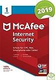 McAfee Internet Security 2019 | 1 Gerät | 1 Jahr | PC/Mac/Smartphone/Tablet | Download