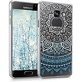 Coque Samsung A3 2016, Lincivius®, Housse Samsung Galaxy A3 2016 Coque Transparente Silicone Gel Antichoc Design Original Motif Sun Bleu Accessoires Etui Protection