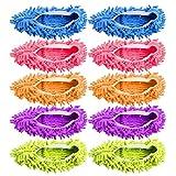 10 pz 5 paia Duster Mop Pantofole Scarpe Copertura