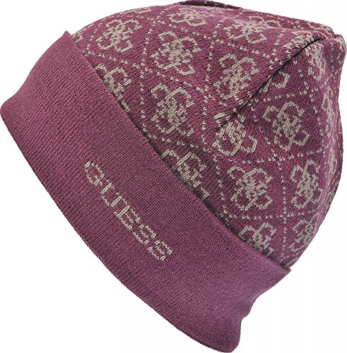 guess-ladies-hats-hats-caps-knitted-hat-red-red-medium